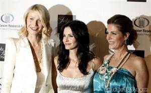 Gwyneth Paltrow, Courteney Cox party with Beyonce