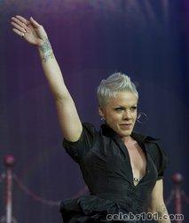 Pink taken to hospital after stage fall